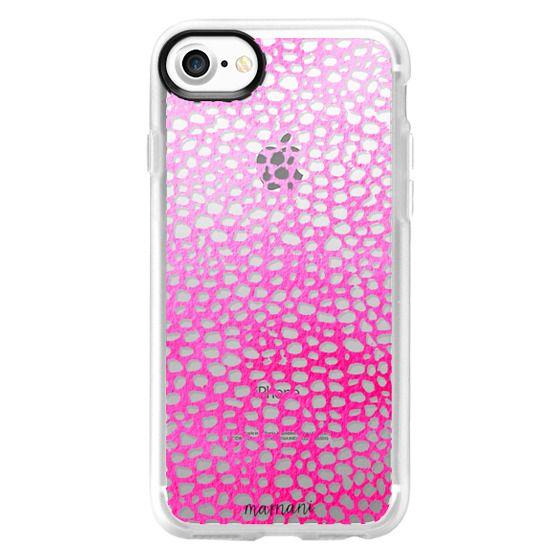 iPhone 7 Cases - Transparent: Ombre Fuchsia Lace: Marnani Design Studio
