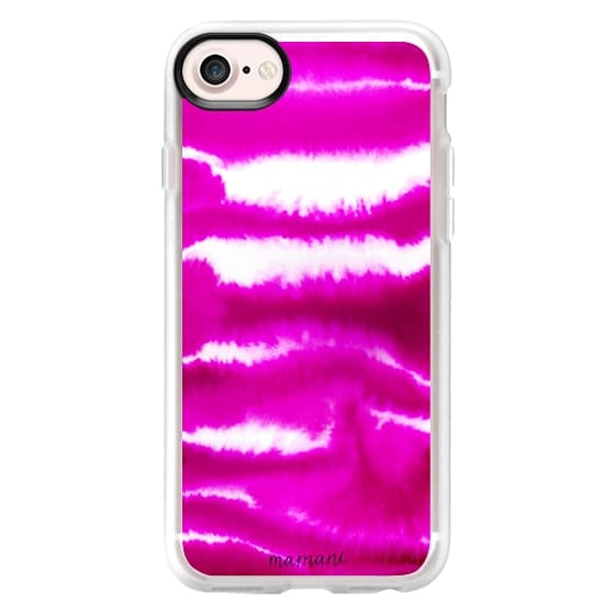 iPhone 7 Cases - Fuchsia Watercolor Waves: Marnani Design Studio