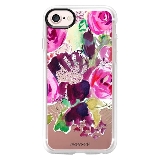 iPhone 7 Cases - Transparent: Watercolor Florals: Marnani Design