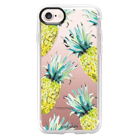 iPhone 7 Cases - Transparent: Pineapple Print: Marnani Design Studio