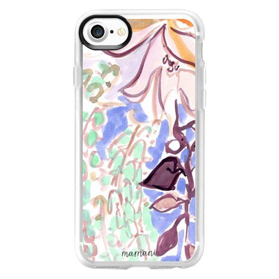 iPhone 7 Cases - Lavender Watercolor Floral: Marnani Design Studio