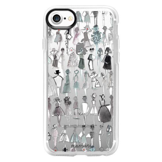 iPhone 7 Cases - Transparent: Not So Basic Black: Marnani Design Studio