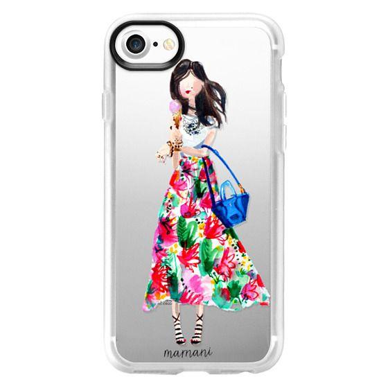 iPhone 7 Cases - Transparent: Ice Cream Cone Fashionista: Marnani Design Studio