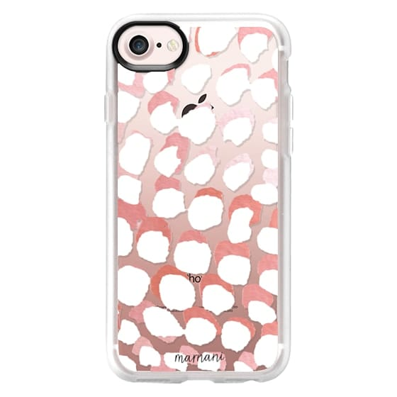 iPhone 7 Cases - Transparent- Watercolor Dots- Marnani Design