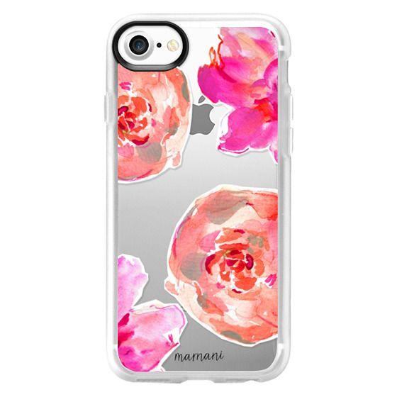 iPhone 7 Cases - Transparent: Peonies for Days: Marnani Design Studio