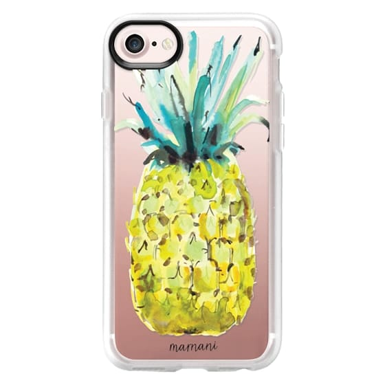 iPhone 7 Cases - Transparent: Le Pine: Pineapple: Marnani Design Studio