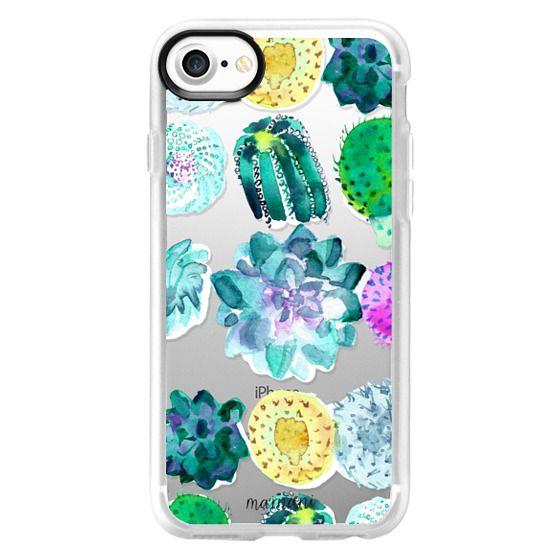 iPhone 7 Cases - Transparent: Succulent Garden: Marnani Design Studio
