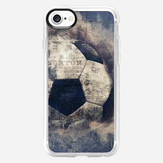 Abstract Blue Grunge Soccer - Wallet Case