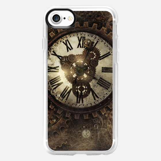 Vintage Steampunk clocks has the look of the old futuristic -