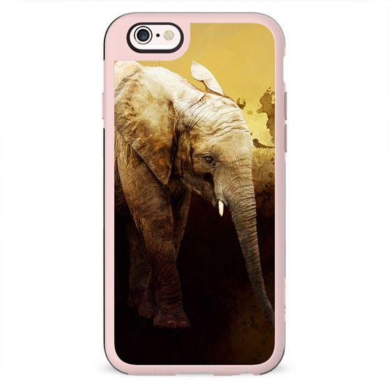 The cute elephant calf