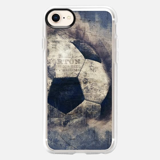 Abstract Blue Grunge Soccer - Snap Case