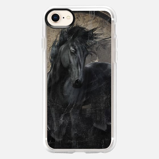 Gothic Friesian Horse - Snap Case