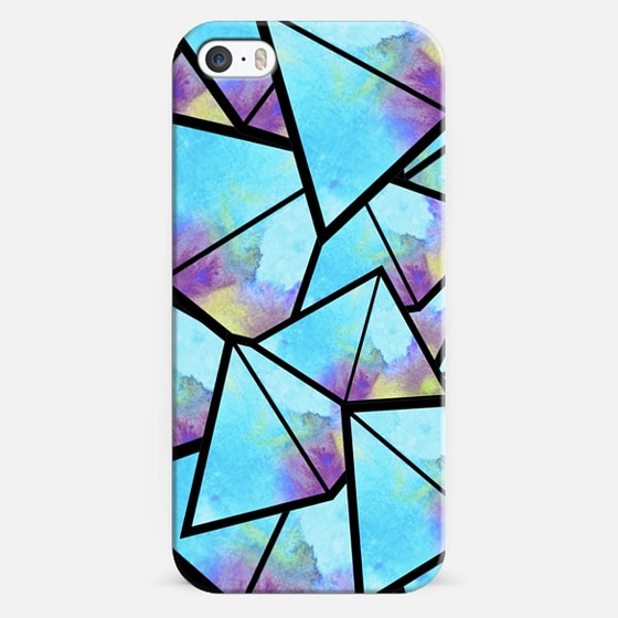Water Color Pyramids - Classic Snap Case