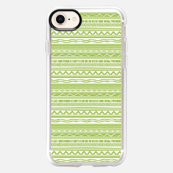 green pattern - Snap Case
