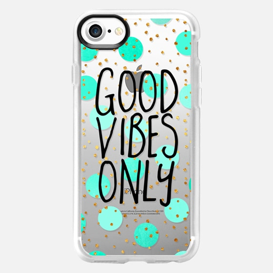 Good Vibes Only / Transparent - Wallet Case