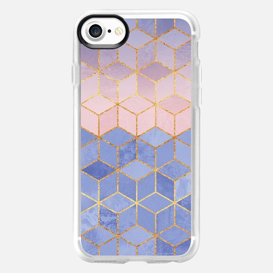 Rose Quartz & Serenity Cubes - Wallet Case