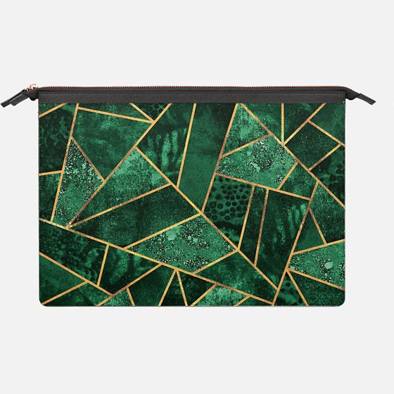 Deep Emerald - Saffiano Leather Sleeve