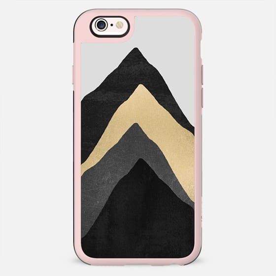 Four Mountains / Gold & Grey by Elisabeth Fredriksson - New Standard Case