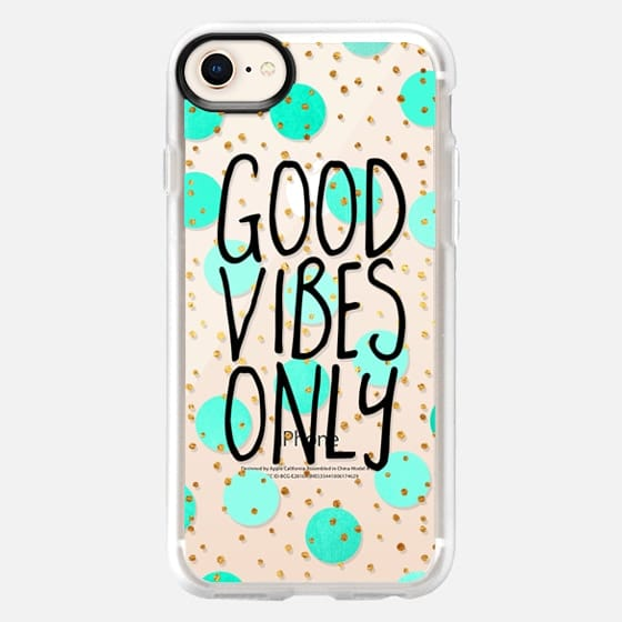 Good Vibes Only / Transparent - Snap Case