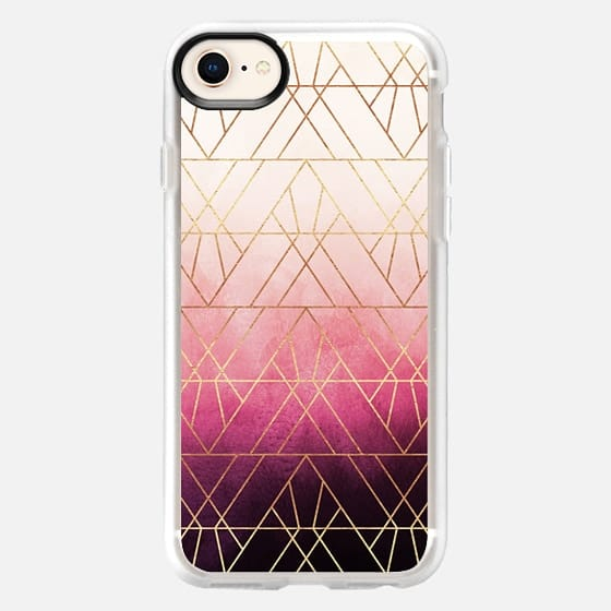 Pink Ombre Triangles - Snap Case