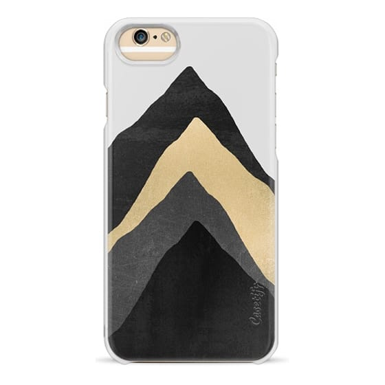 iPhone 6s Cases - Four Mountains / Gold & Grey by Elisabeth Fredriksson
