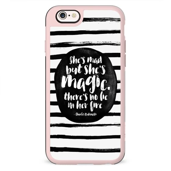 She's Mad But She's Magic / Stripes & Quote by Elisabeth Fredriksson