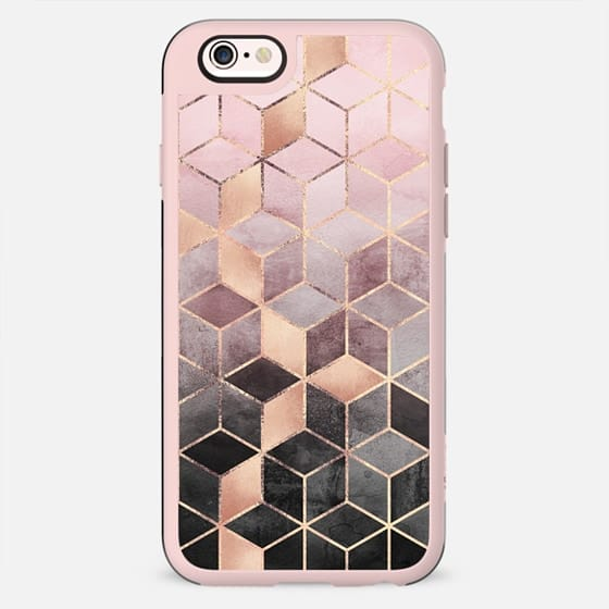 Pink Grey Gradient Cubes - New Standard Case
