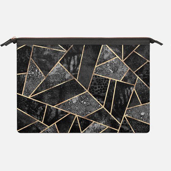 Black Stone 2 - Saffiano Leather Sleeve