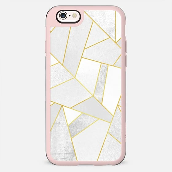 White Stone / Gold Lines By Elisabeth Fredriksson - New Standard Case