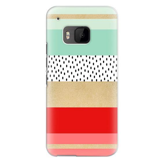 Htc One M9 Cases - Summer Fresh Stripes By Elisabeth Fredriksson