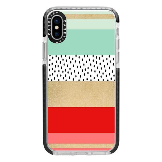 iPhone X Cases - Summer Fresh Stripes By Elisabeth Fredriksson