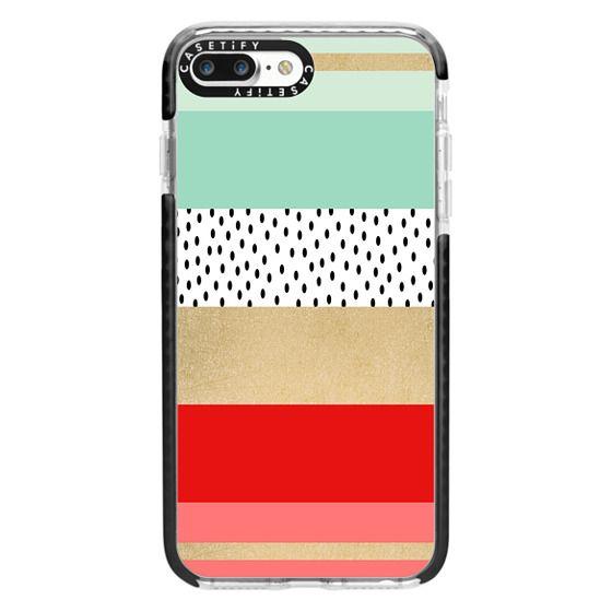 iPhone 7 Plus Cases - Summer Fresh Stripes By Elisabeth Fredriksson