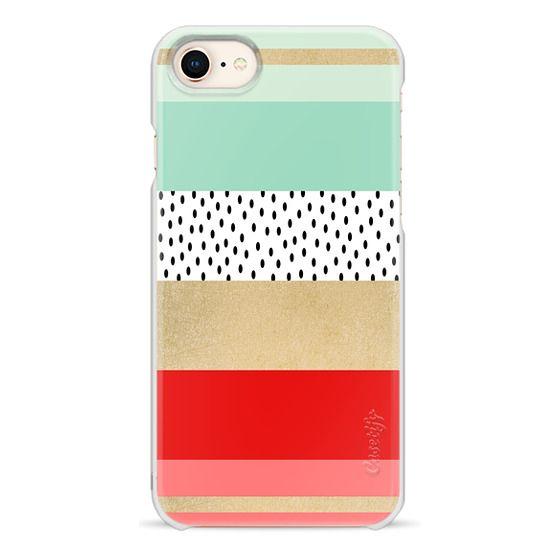 iPhone 8 Cases - Summer Fresh Stripes By Elisabeth Fredriksson