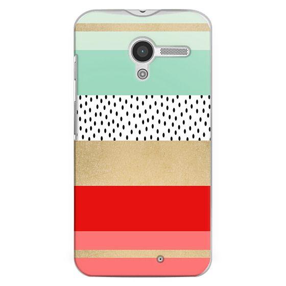 Moto X Cases - Summer Fresh Stripes By Elisabeth Fredriksson
