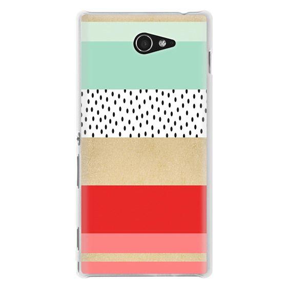 Sony M2 Cases - Summer Fresh Stripes By Elisabeth Fredriksson
