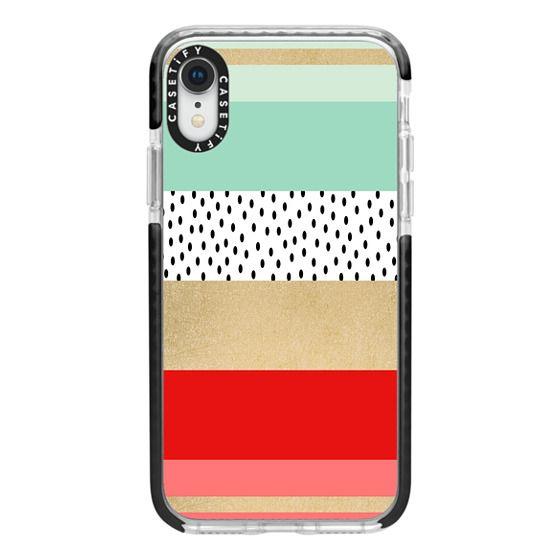 iPhone XR Cases - Summer Fresh Stripes By Elisabeth Fredriksson