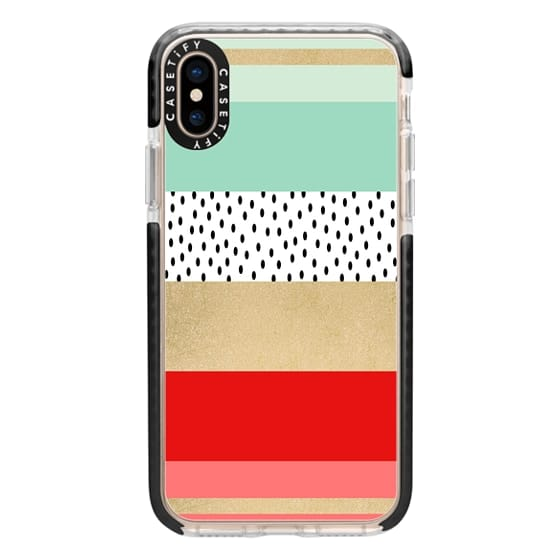 iPhone XS Cases - Summer Fresh Stripes By Elisabeth Fredriksson