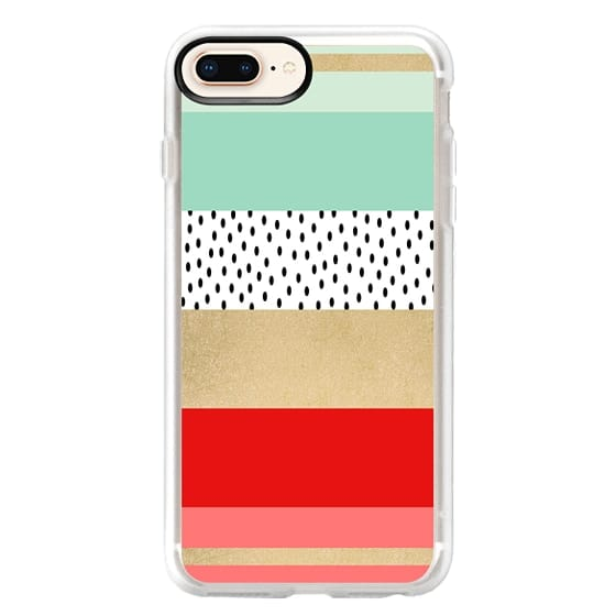 iPhone 8 Plus Cases - Summer Fresh Stripes By Elisabeth Fredriksson