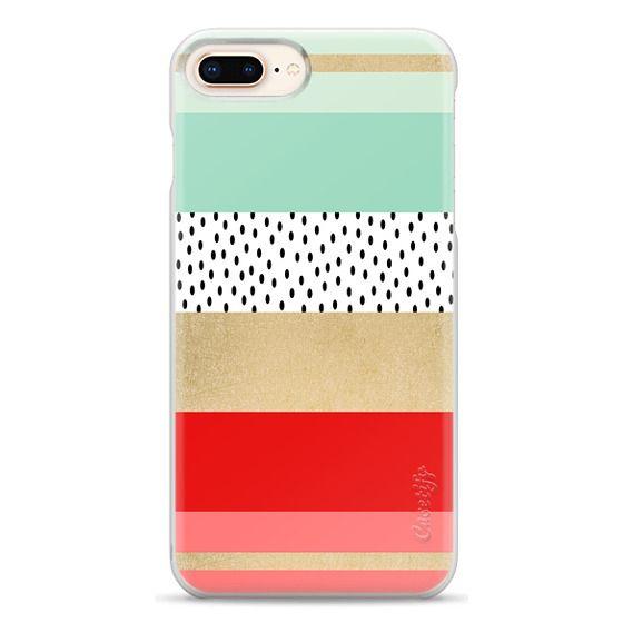 iPhone 8 Plus Cases - Summer Fresh Stripes By Elisabeth Fredriksson