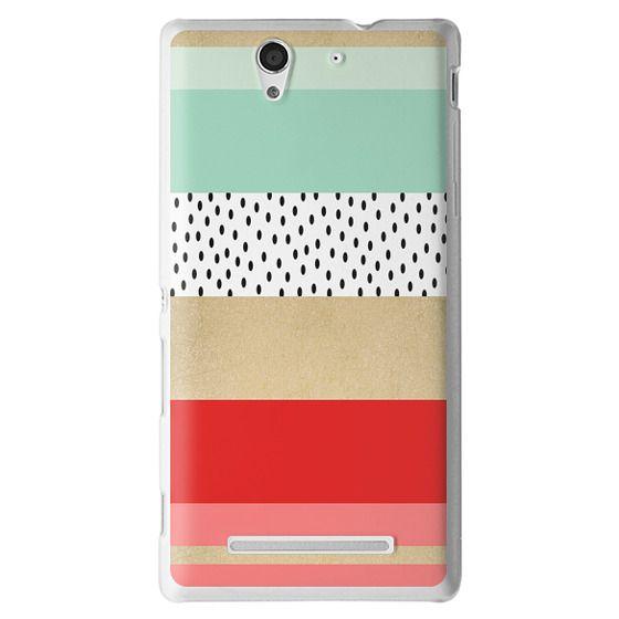 Sony C3 Cases - Summer Fresh Stripes By Elisabeth Fredriksson