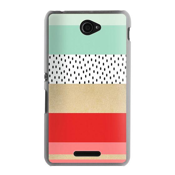Sony E4 Cases - Summer Fresh Stripes By Elisabeth Fredriksson