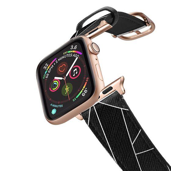 Apple Watch 42mm Bands - Geometric Black Stone By Elisabeth Fredriksson