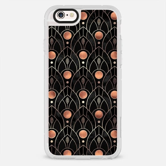 Art Deco Leaves - Black - New Standard Case