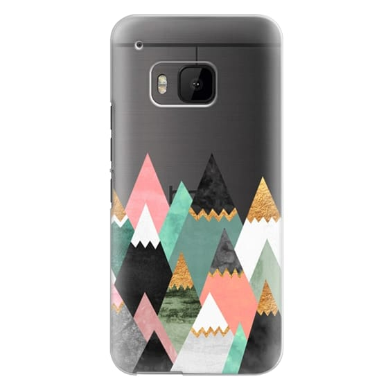 Htc One M9 Cases - Pretty Mountains / Transparent