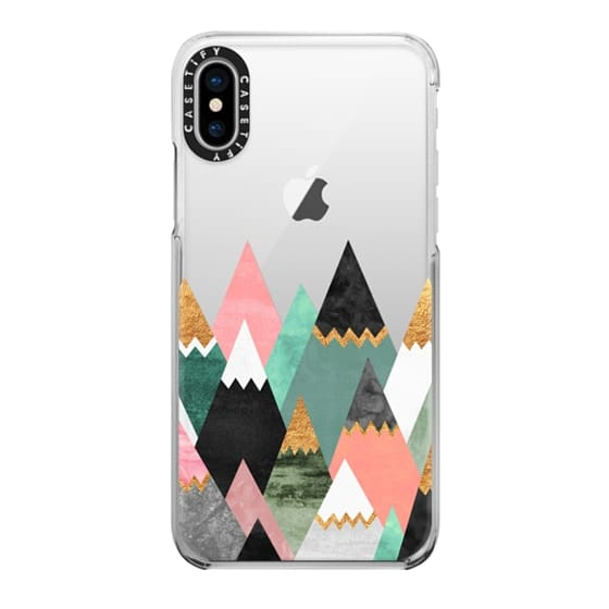 iPhone X Cases - Pretty Mountains / Transparent
