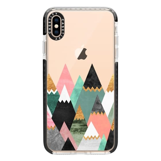 iPhone XS Max Cases - Pretty Mountains / Transparent