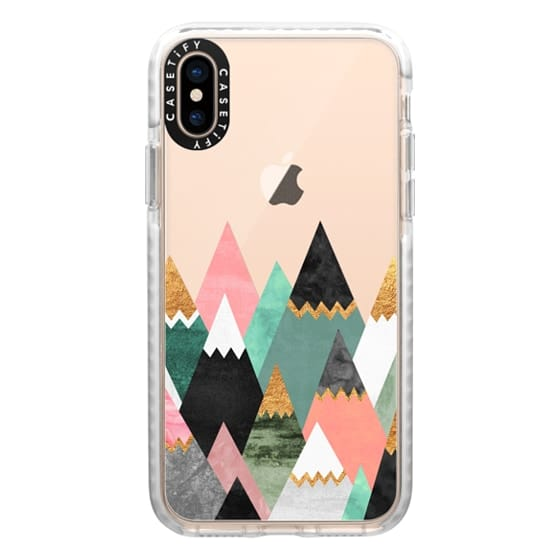 iPhone XS Cases - Pretty Mountains / Transparent
