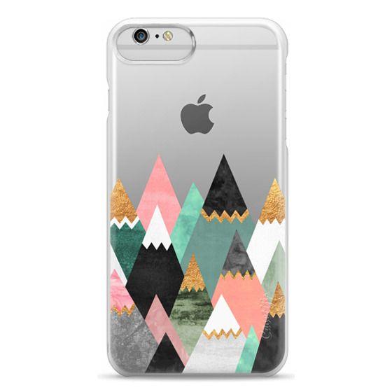 iPhone 6 Plus Cases - Pretty Mountains / Transparent