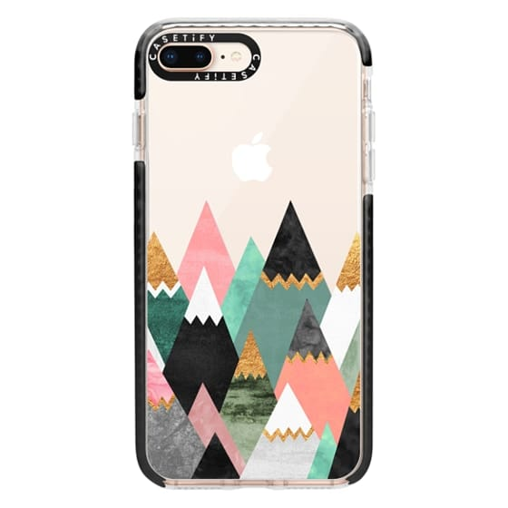 iPhone 8 Plus Cases - Pretty Mountains / Transparent