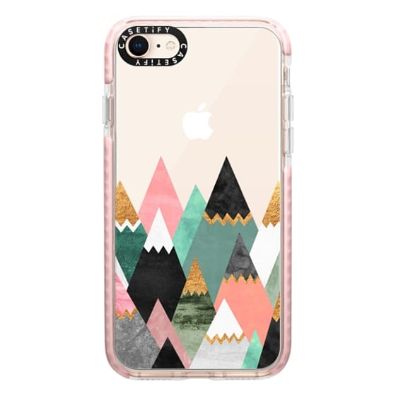 iPhone 8 Cases - Pretty Mountains / Transparent